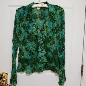 Very Pretty Ruffle Crinkle Blouse